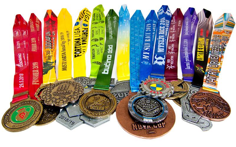 Ukázka zakázkovì vyrábìných medailí