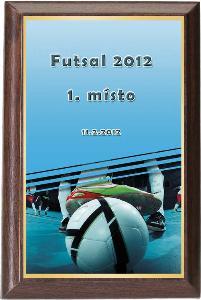 Døevìná plaketa - futsal - PLP3M2