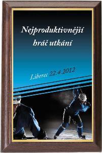 Døevìná plaketa - hokej - PLP3M10