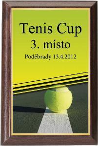Døevìná plaketa - tenis - PLP3M5