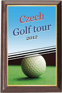 Døevìná plaketa - golf - PLP3M6