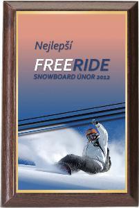 Døevìná plaketa - snowboard - PLP3M8