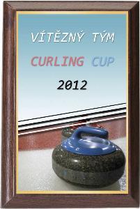 Døevìná plaketa - curling - PLP3M15