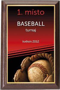 Døevìná plaketa - baseball - PLP3M19