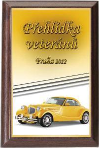 Døevìná plaketa - motorismus - PLP3M28