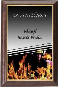 Døevìná plaketa - hasiè - PLP3M27