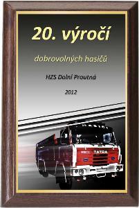 Døevìná plaketa - hasiè - PLP3M35