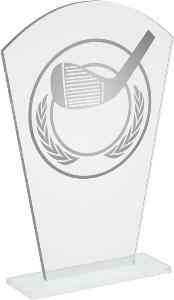 Sklenìná golfová trofej - CR20236