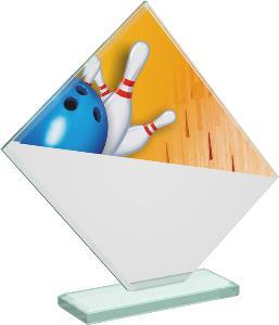 Bowlingová sklenìná trofej - CRT20004M4