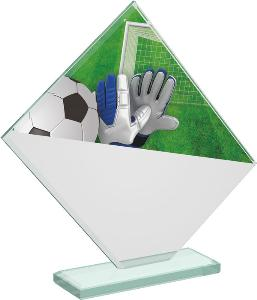 Fotbalová sklenìná trofej - CRT20004M6 - brankáø