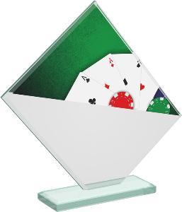 Pokerová sklenìná trofej - CRT20004M10
