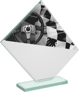 Motoristická sklenìná trofej - CRT20004M12