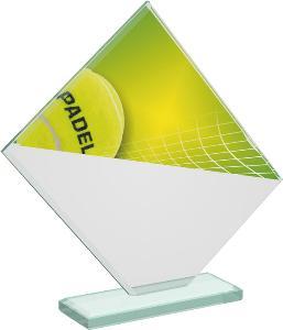 Tenisová sklenìná trofej - CRT20004M13