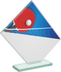 Ping pongová sklenìná trofej - CRT20004M14