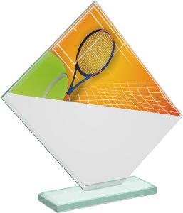 Tenisová sklenìná trofej - CRT20004M18