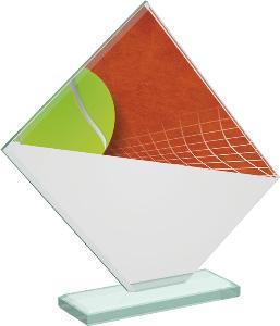 Tenisová sklenìná trofej - CRT20004M19