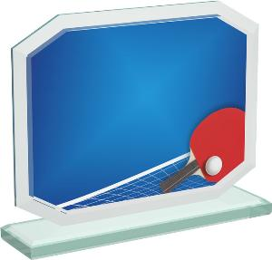 Ping pongová sklenìná trofej - CRT20006M13
