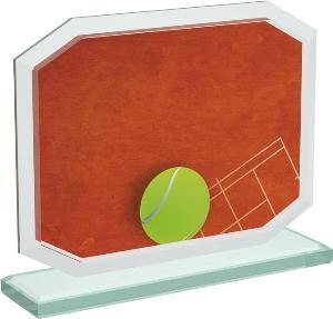 Tenisová sklenìná trofej - CRT20006M14