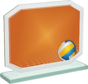 Volejbalová sklenìná trofej - CRT20006M16
