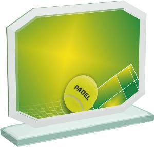 Tenisová sklenìná trofej - CRT20006M12
