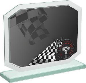 Motoristická sklenìná trofej - CRT20006M11