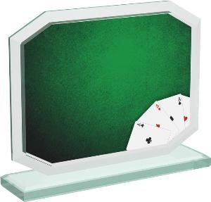 Karetní sklenìná trofej - CRT20006M10