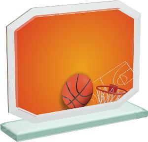 Basketbalová sklenìná trofej - CRT20006M1