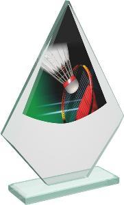 Badmintonová sklenìná trofej - CRT20007M1
