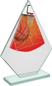 Basketbalová sklenìná trofej - CRT20007M2