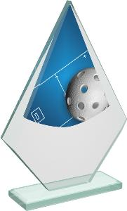 Florbalová sklenìná trofej - CRT20007M4