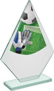 Fotbalová sklenìná trofej - CRT20007M5 - brankáø