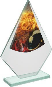 Hasièská sklenìná trofej - CRT20007M7