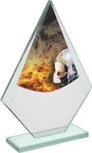 Hasièská sklenìná trofej - CRT20007M8