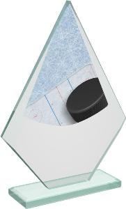 Hokejová sklenìná trofej - CRT20007M10