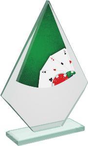 Pokerová sklenìná trofej - CRT20007M11