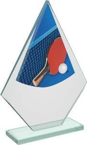 Ping pongová sklenìná trofej - CRT20007M15