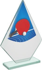 Ping pongová sklenìná trofej - CRT20007M16