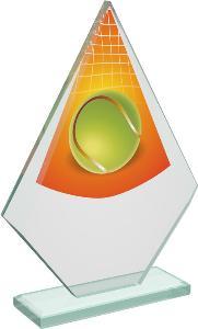 Tenisová sklenìná trofej - CRT20007M19