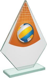 Volejbalová sklenìná trofej - CRT20007M20
