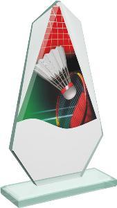 Badmintonová sklenìná trofej - CRT20008M1