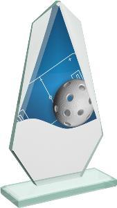 Florbalová sklenìná trofej - CRT20008M4