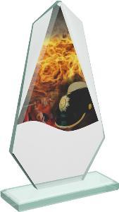 Hasièská sklenìná trofej - CRT20008M6