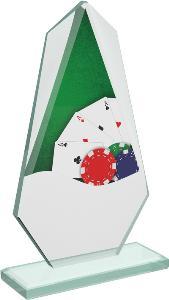 Pokerová sklenìná trofej - CRT20008M9