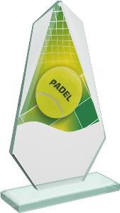 Tenisová sklenìná trofej - CRT20008M12