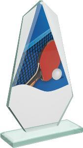 Ping pongová sklenìná trofej - CRT20008M13