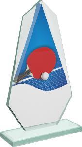 Ping pongová sklenìná trofej - CRT20008M14