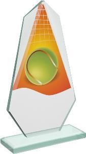 Tenisová sklenìná trofej - CRT20008M17