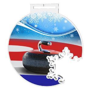 Medaile - curling - MDAS0011