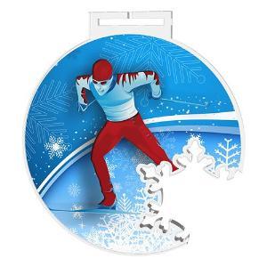 Medaile - bìh na lyžích - MDAS0017