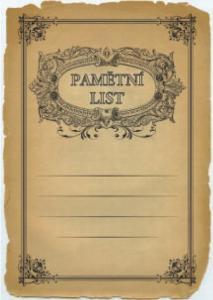 Diplom pamìtní list - 6705